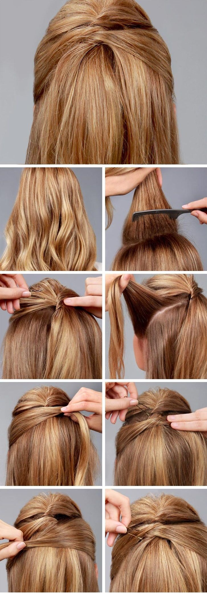 best ponytails for short hair images on pinterest hairstyle