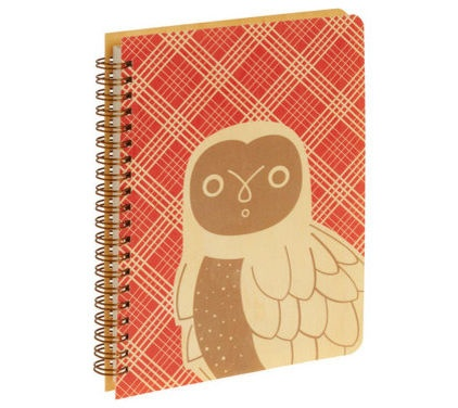 Red plaid notebook :: Modcloth