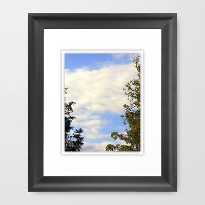 SKY BORDER Framed Art Print by Diane Perkins Photography - $32.00