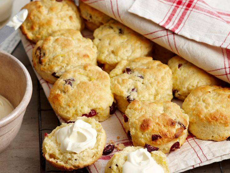 Who doesn't love a fresh fruit scone? This recipe, with orange and cranberry, is best served with cream and a pot of hot tea.