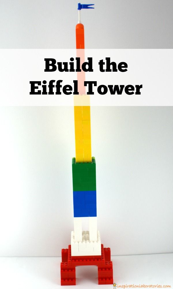 After reading Madeline by Ludwig Bemelmans, build the Eiffel Tower for a fun engineering challenge for kids.