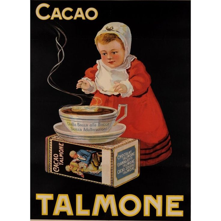 Chocolate Cacao Talmone Vintage ADVERT LARGE METAL TIN SIGN POSTER WALL PLAQUE