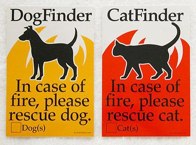 Pet Finder Decals for Dog & Cat, Get 2, FREE SHIPPING!