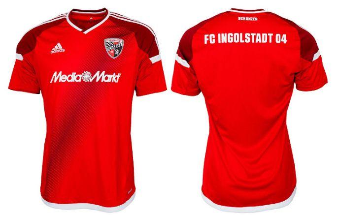 Camisas do FC Ingolstadt 04 2016-2017 Adidas Titular