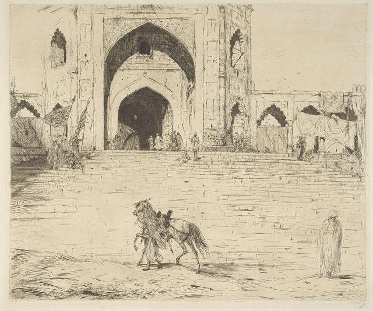 Marius Bauer | De Grote Moskee te Delhi, Marius Bauer, 1877 - 1932 |