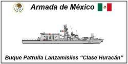 """Buque Patrulla Lanzamisiles """"Clase Huracán"""".png"""