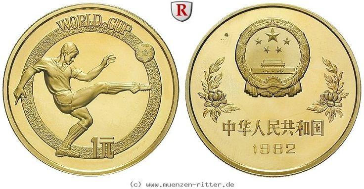 RITTER China, Yuan 1982, Fußball Weltmeisterschaft Spanien '82, Fußballer, PP #coins