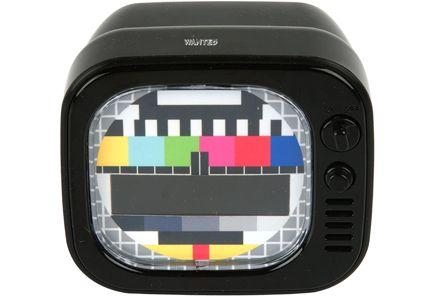 TV virityskuva -herätyskello, musta. #omaankotiin #opiskelijaboksi #opiskelijaelämä #sokos #setukortti