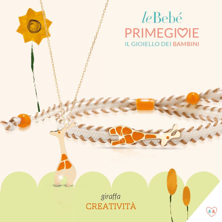 I nuovi gioielli Io&Te di leBebé Primegioie. Una collana per la mamma e un bracciale per il bimbo, entrambi con sagoma giraffa, simbolo della creatività. Scopri le otto versioni disponibili, ognuna con il suo significato. :) http://www.lebebe.eu/it/collezioni/Io_e_Te #fieradiesseremamma #lebebé #primegioie #gioielli