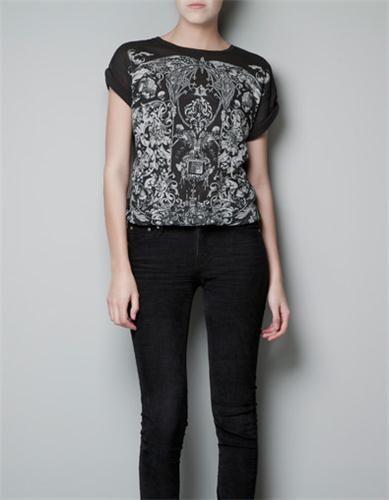 BAROQUE PRINTED T SHIRT T shirts Woman ZARA United States