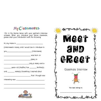 This activity is great as an ice breaker during the first week of school. It is used to help students get to know one another and provides an oppor...
