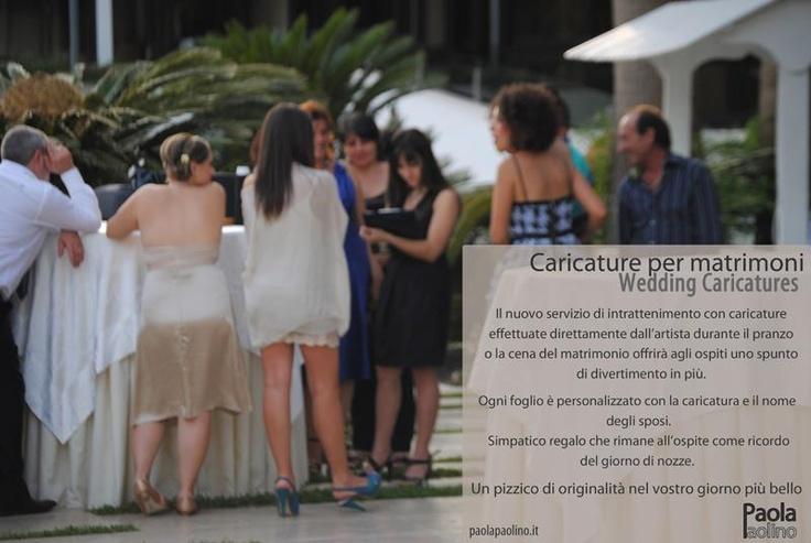 #caricature per #matrimoni #Wedding #caricatures  Il nuovo servizio di #intrattenimento con caricature effettuate direttamente dall'#artista durante il pranzo o la cena del #matrimonio offrirà agli ospiti uno spunto di #divertimento in più.  Simpatico #regalo che rimane all'ospite come ricordo del giorno di #nozze.  Un pizzico di originalità nel vostro giorno più bello! Chiedi pure info!  Scopri di più: http://www.paolapaolino.it/