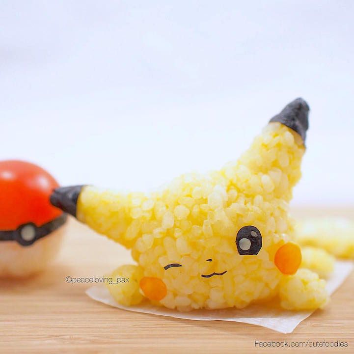 doctor sculpts rice into adorably colorful characters to dazzle everyday bento boxes my modern met rice ballsfood decorationpikachucute