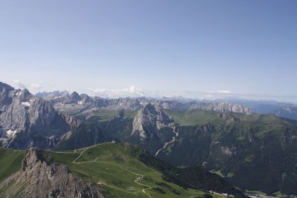 This spectacular view from Sass Pordoi was the highlight of my 2015 trip to Europe.