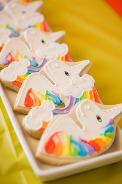 Unicorn cookies. Beautiful. I have a unicorn cookie cutter. I love making unicorn cookies and decorating them like characters from the Unicorns of Balinor series.
