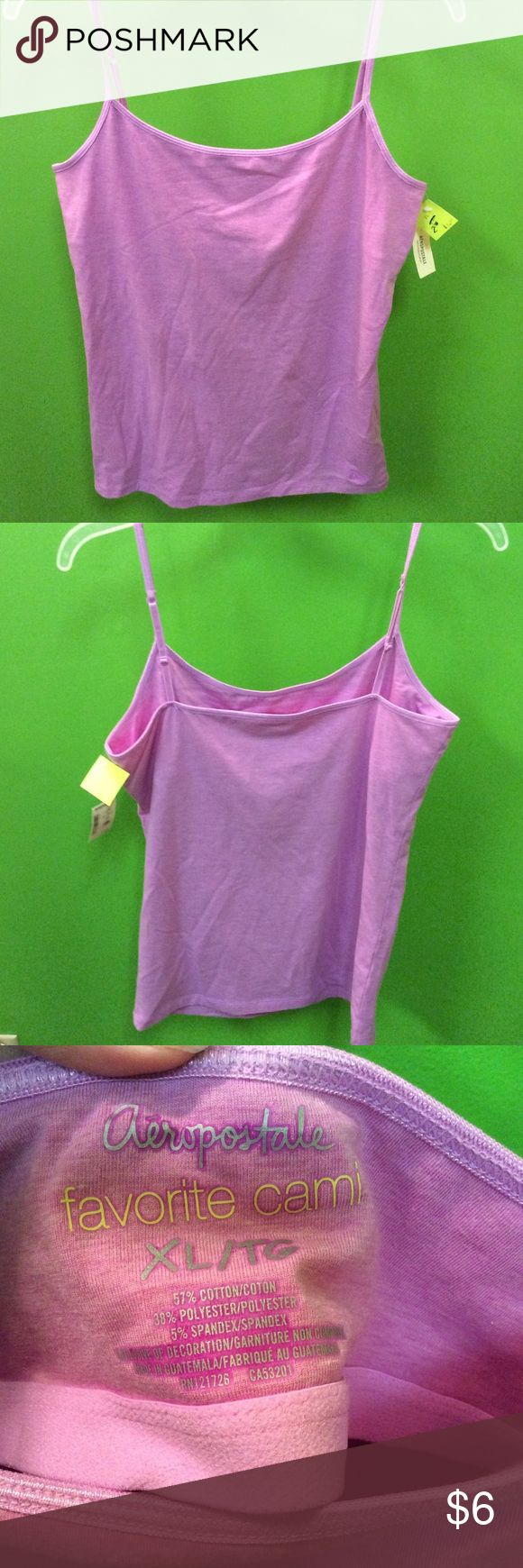 NWT Aeropostale women's purple Cami size XL New with tags Aeropostale cute light purple cami Aeropostale Tops Tank Tops