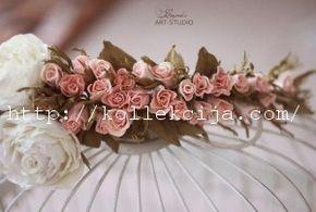 Венок из роз из фоамирана   Своими руками — интернет журнал