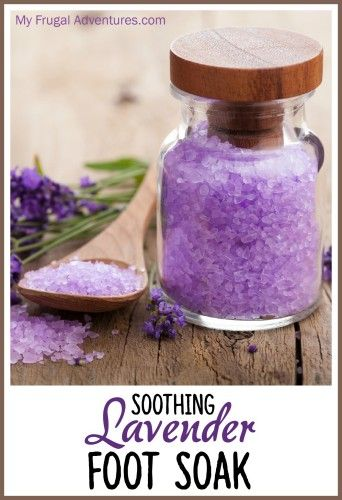 Soothing  Lavender Foot Soak- so a lovely treat made with a few basic ingredients.  Perfect homemade gift or make a batch for yourself to relax after a long day! 1/2 Cup Epsom Salts 2 tablespoons baking soda (optional- baking soda makes skin smoother and promotes healing of any little bumps or scratches etc.. on the skin.) 6 drops lavender essential oil (this is what I use) 1-2 drops colorant or food coloring (optional)