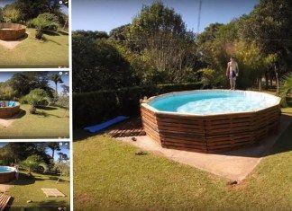 Inspirace na bazén z palet za pár korun
