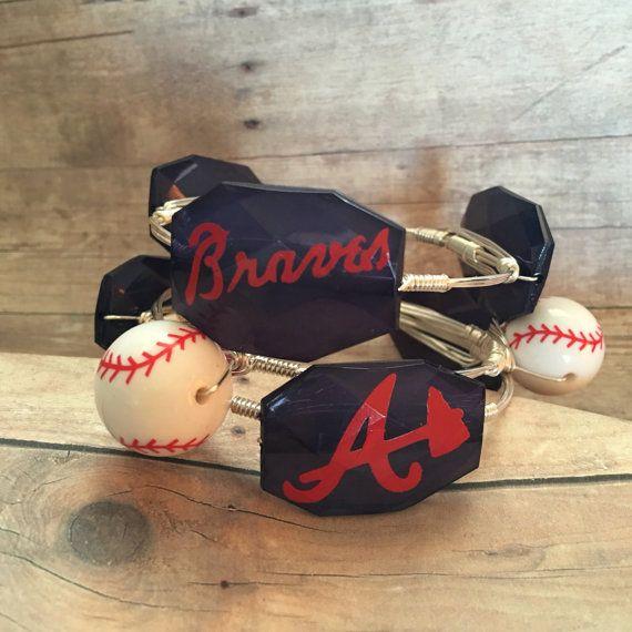 Atlanta Braves Baseball Bangles set Baseball Bangles  set of
