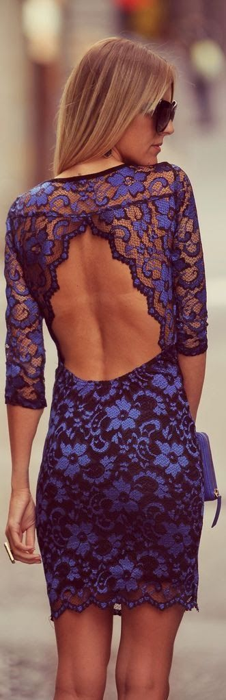Blue laces mini dress fashion inspiration for women