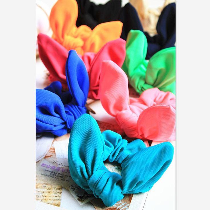Corea Accessori Arcobaleno Colore Coniglio Orecchio Farfalla Orso Accessori per capelli Fascia Corda dei capelli