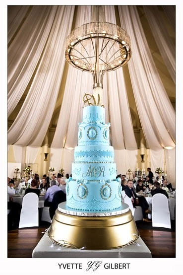 wedding cake cape town bakery charly s bakery cape town 5 tier blue amp gold 22160