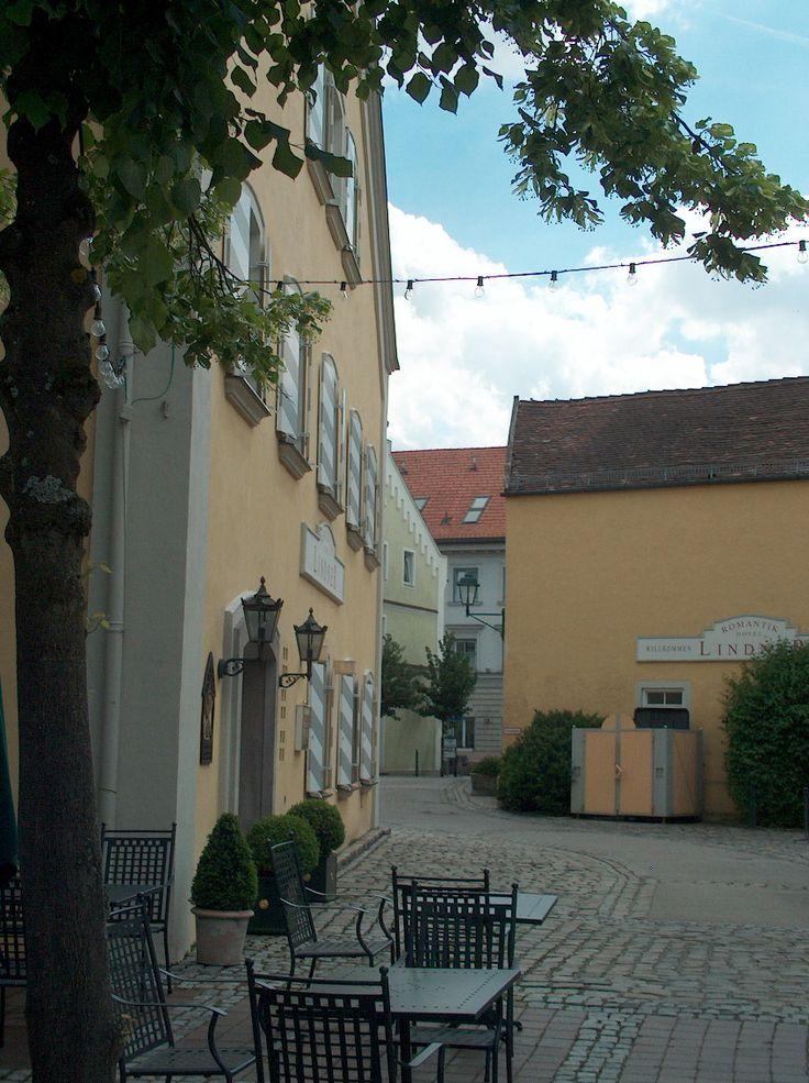 Backyard of Hotel Lindner in 2009
