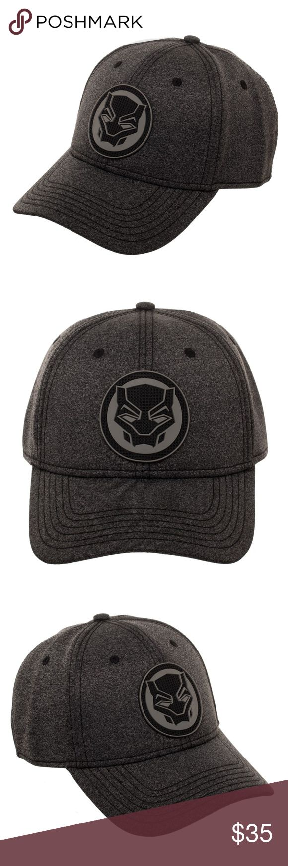 """Black Panther Movie Flex-Fit Hat - OSFM This is for 1 Marvel Comics / Black Panther themed flex-fit Hat  This very nice hat is officially licensed from Bioworld.  This is a flex-fit hat - one size fits most.  It features the Black Panther logo on the front.  In the back it reads """"The Black Panther""""    Size:  Flex-Fit - One Size Fits Most  CONDITION - New  Great for any Marvel Comics or Black Panther fan!  Makes a great gift!   Check out my Posh for more Black Panther and Marvel items…"""
