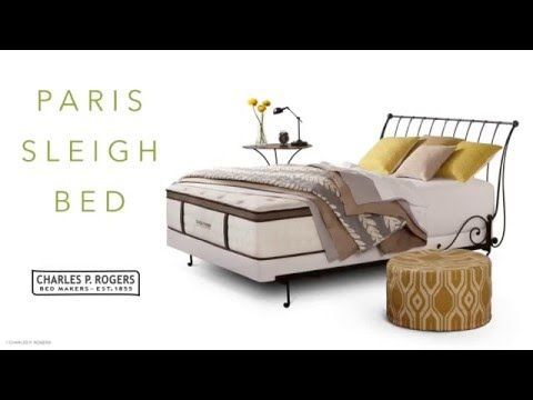 Paris Sleigh Bed- Open : Charles P. Rogers Beds Direct, Makers of fine beds, mattresses and bedding since 1855