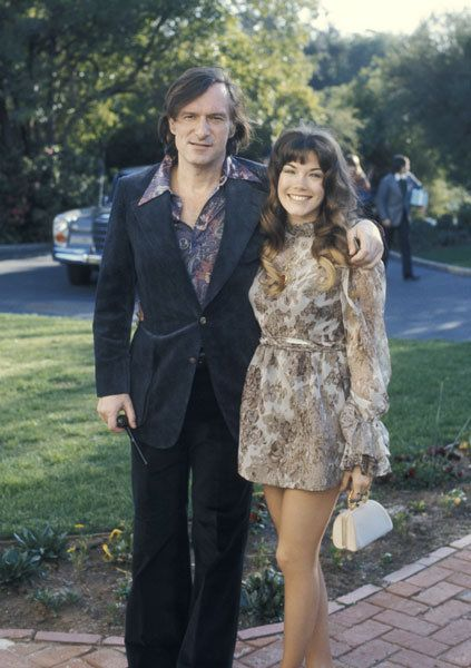 Hugh Hefner with his long time 'main squeeze' Barbi Benton in 1970 --