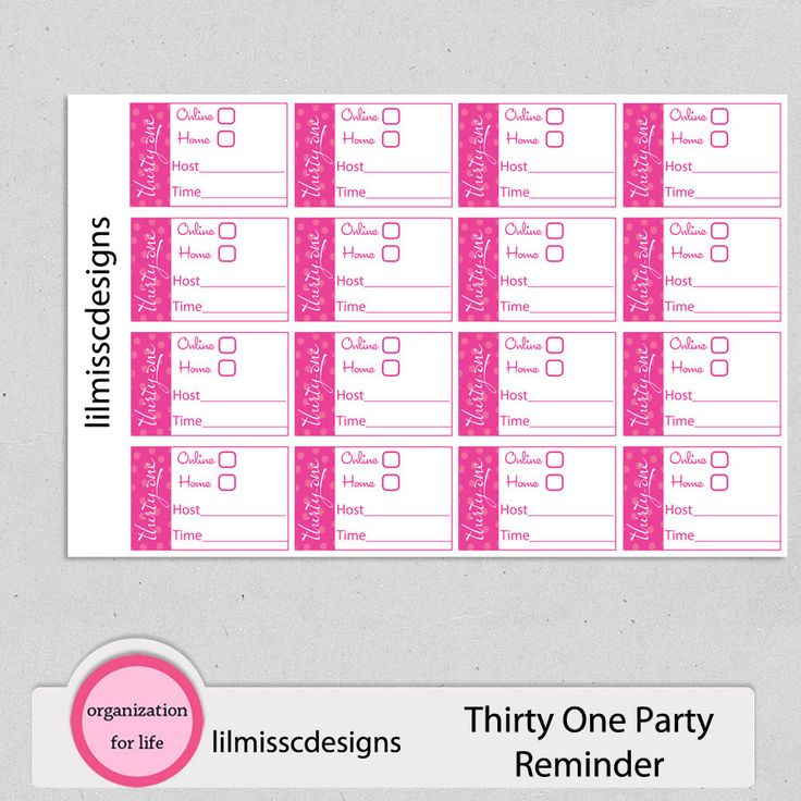 Thirty One 31 Consultant Planner Stickers Party Reminder: Great for Erin Condren Life Planner Plum Paper Filofax Calendar Scrapbook! (3.75 USD) by lilmisscdesigns