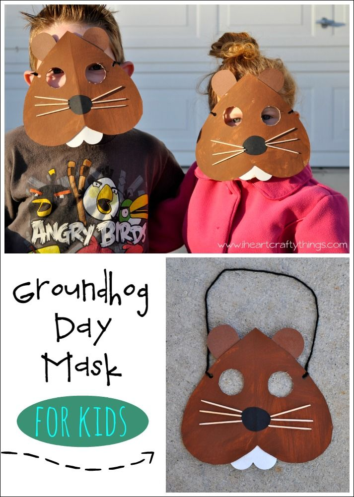Look at this adorable groundhog mask! Perfect to start your Groundhog Day celebrations!