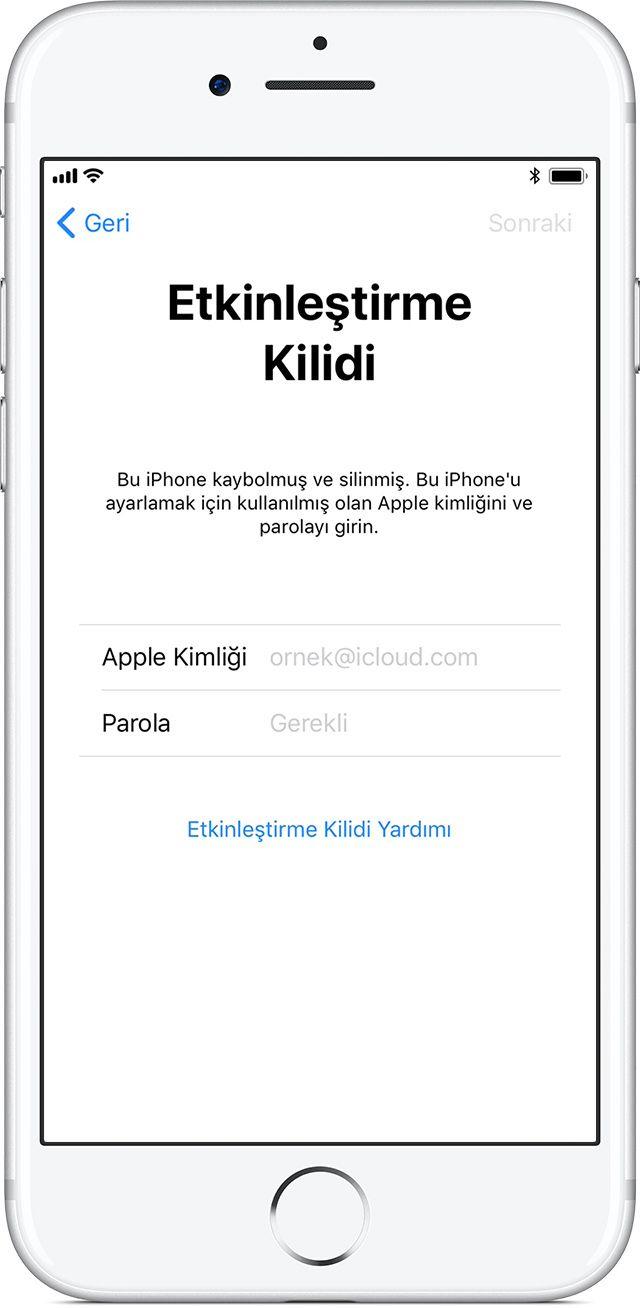 Iphone Umu Bul Etkinlestirme Kilidi Ni Kapatma Apple