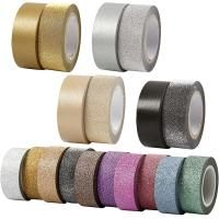 Washitejp, metallic/glitter, 2-pack Make & Create
