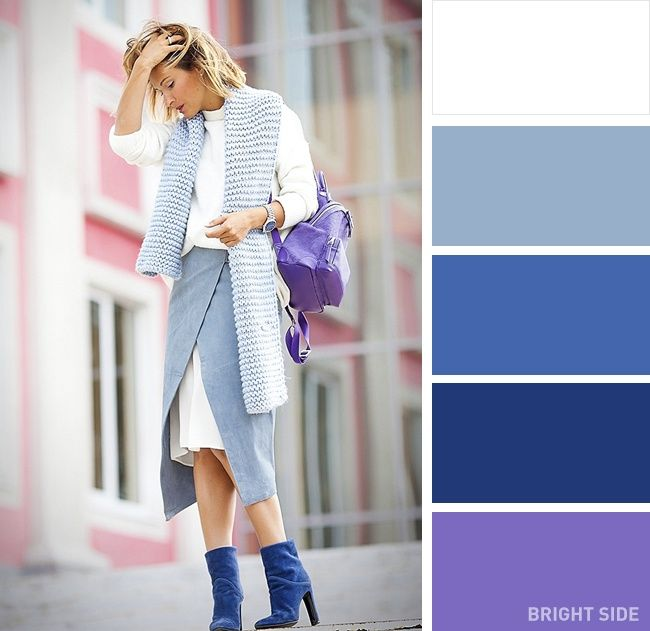 12superb color combinations for your spring wardrobe. Focus on purple