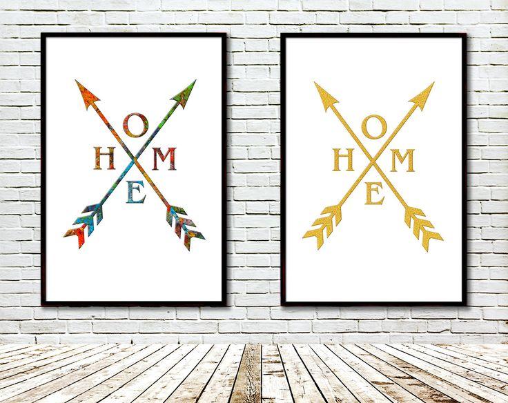 Arrow home Printable, Modern art, Art print, Gold glitter, Artist palette, Modern Geometric Wall Decor, Wall art contemporary, Digital by GecleeArtStudio on Etsy