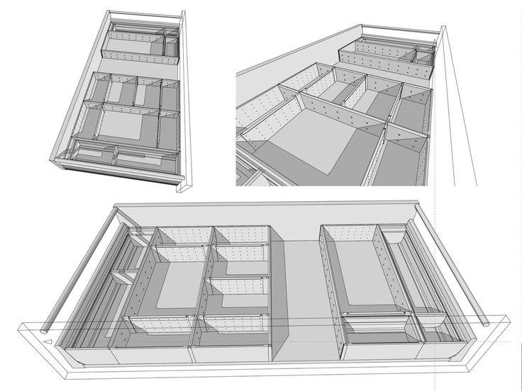 Projekt wnętrza szuflady :)