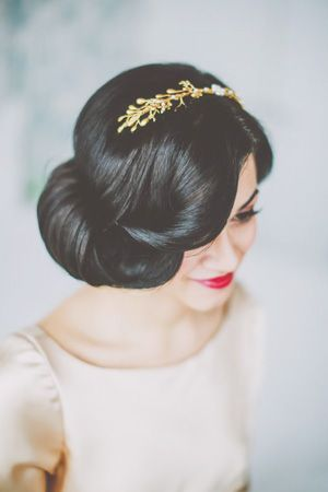 Snow white inspired wedding hairstyle                                                                                                                                                                                 More