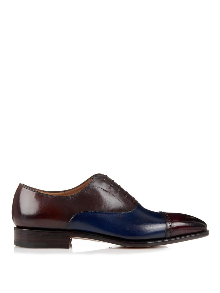 Norman Tramezza leather brogues | Salvatore Ferragamo | MATCHESFASHION.COM