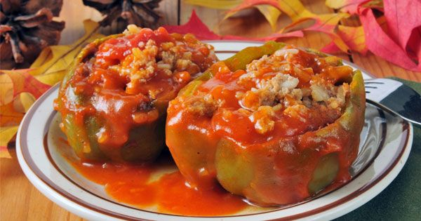 Fast Stuffed Green Peppers Recipe Living On A Dime To Grow Rich Stuffed Peppers Italian Stuffed Peppers Peppers Recipes