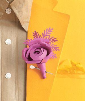 paper flower boutonniere - Boutonnire Invit Mariage