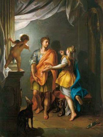 Butadova dcera dělá portrét svého milence, Jean Raoux