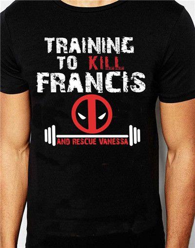 Deadpool Training to Kill Francis T Shirt euro size