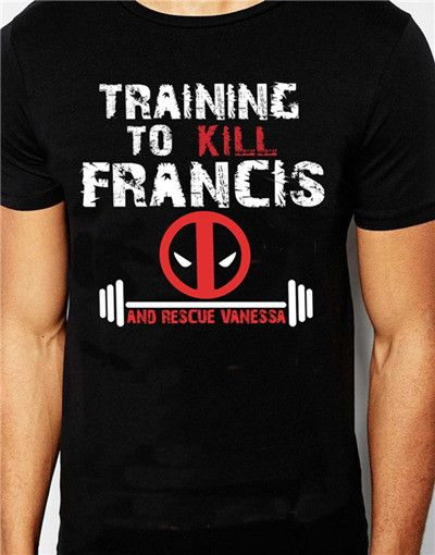 DEADPOOL love Harley Quinn T-SHIRT TRAINING KILL FRANCIS Joker wanted deadpool pervert tee t-shirt