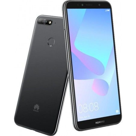 f947cd588befc Téléphone Portable Huawei Y6 Prime 2018   4G   Double SIM   Noir + SIM  Offerte
