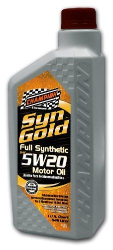 Champion Brands 4430H SynGold 5W20 SNGF5 Synthetic Motor Oil  32 oz *** To view further for this item, visit the image link.