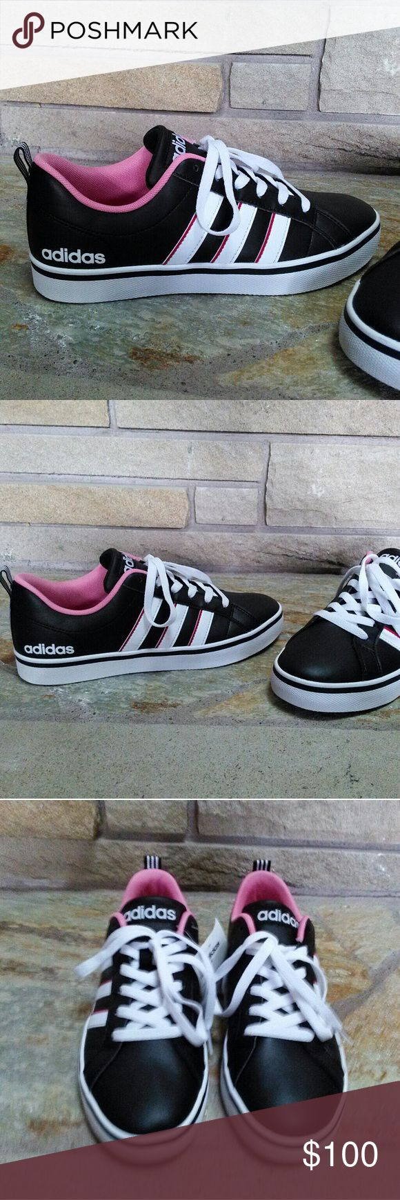 timeless design 29309 a0370 ... adidas neo vs pace black leather pink sneakers awesome sold out adidas  neo . ...