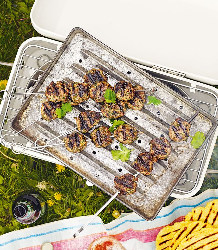 Make homemade koftas using beef mince, coriander, parsley, red onion and spices – for an inexpensive barbecue dish.