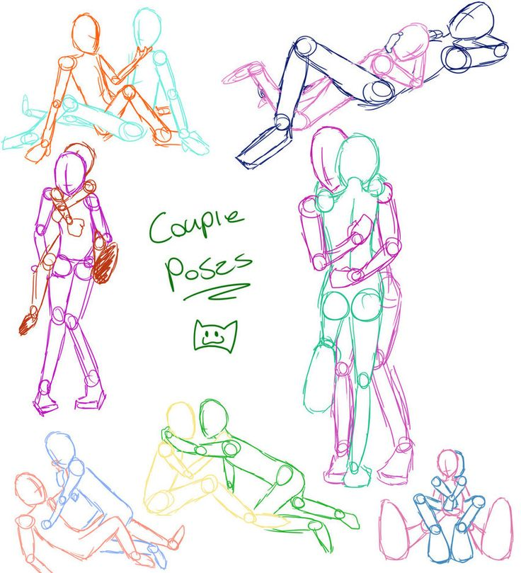 Couple Poses By ~kikikittykat On DeviantART | Sketch Inspiration | Pinterest | Couple Posing ...